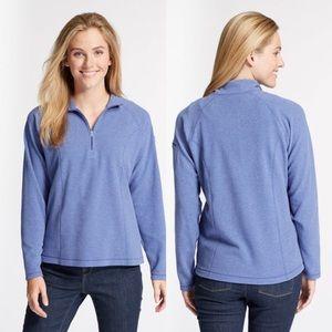 L.L.Bean Fitness Fleece Quarter-Zip Pullover Large